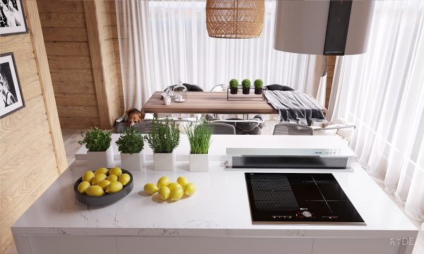 In The Sleek U2013 If Somewhat Small U2013 Kitchen, Countertop Herb Planters Add A  Perfect Pop Of Color.