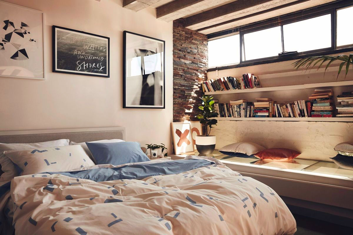 1 - Bookshelves Around Bed