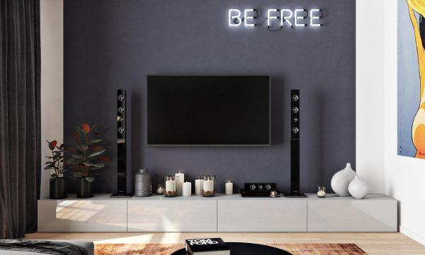 Masculine Interiors In Shades Of Grey Black And Brown Mixed Sign - Black wall behind tv