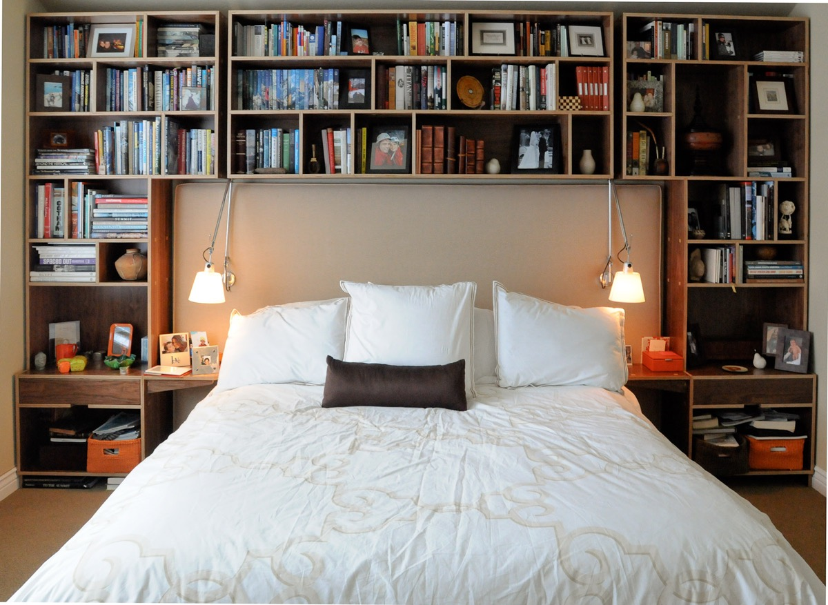 Bedrooms bookshelves 22 inspirational examples for those Bookshelves in bedroom ideas