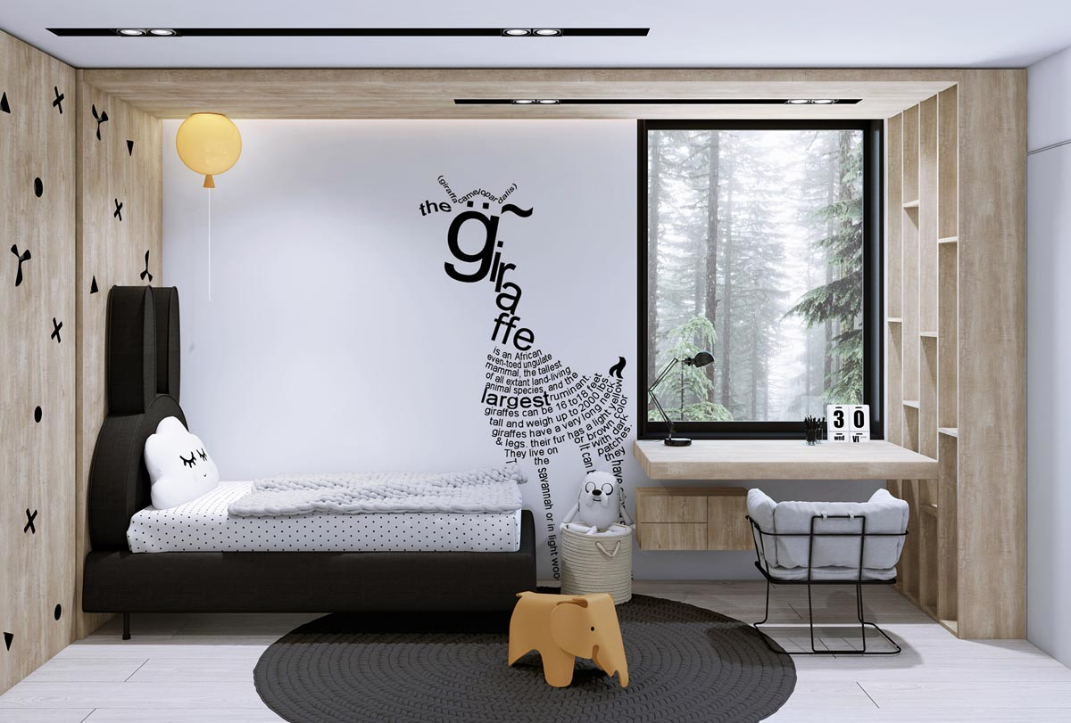 Black and white house with moments of kid friendly quirky for Quirky interior design ideas