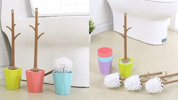 Cool Product Alert: Unique Branch Shaped Toilet Brush & Holder