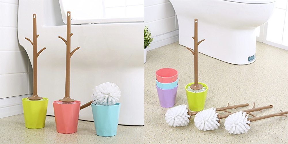Cool product alert unique branch shaped toilet brush holder