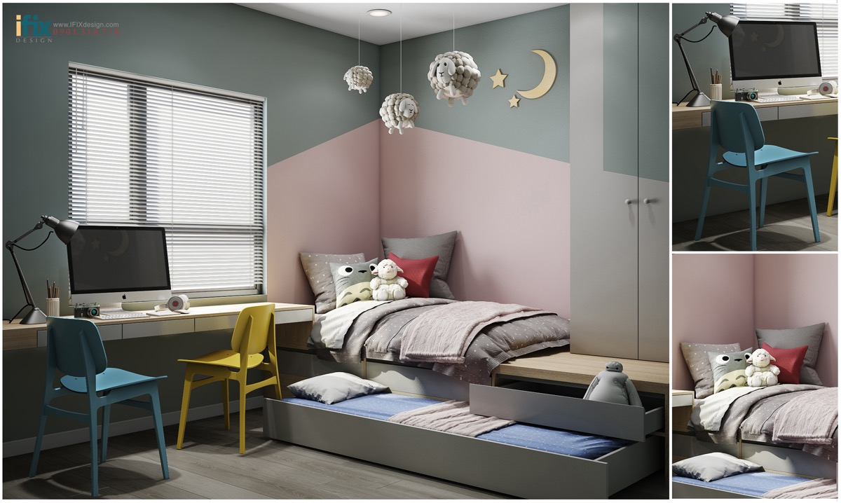 Shared kids 39 rooms 10 detailed examples to help you plan Room visualizer furniture