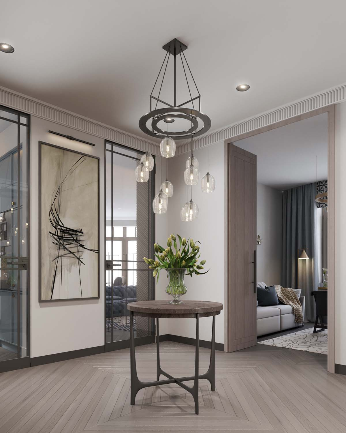 A Luxurious Home Interior with Pretty, Muted Pastel Colors images 13