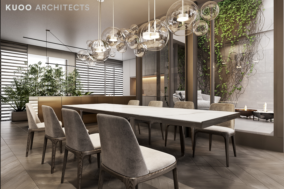 Kitchen & Dining  Gray-upholstered-chairs