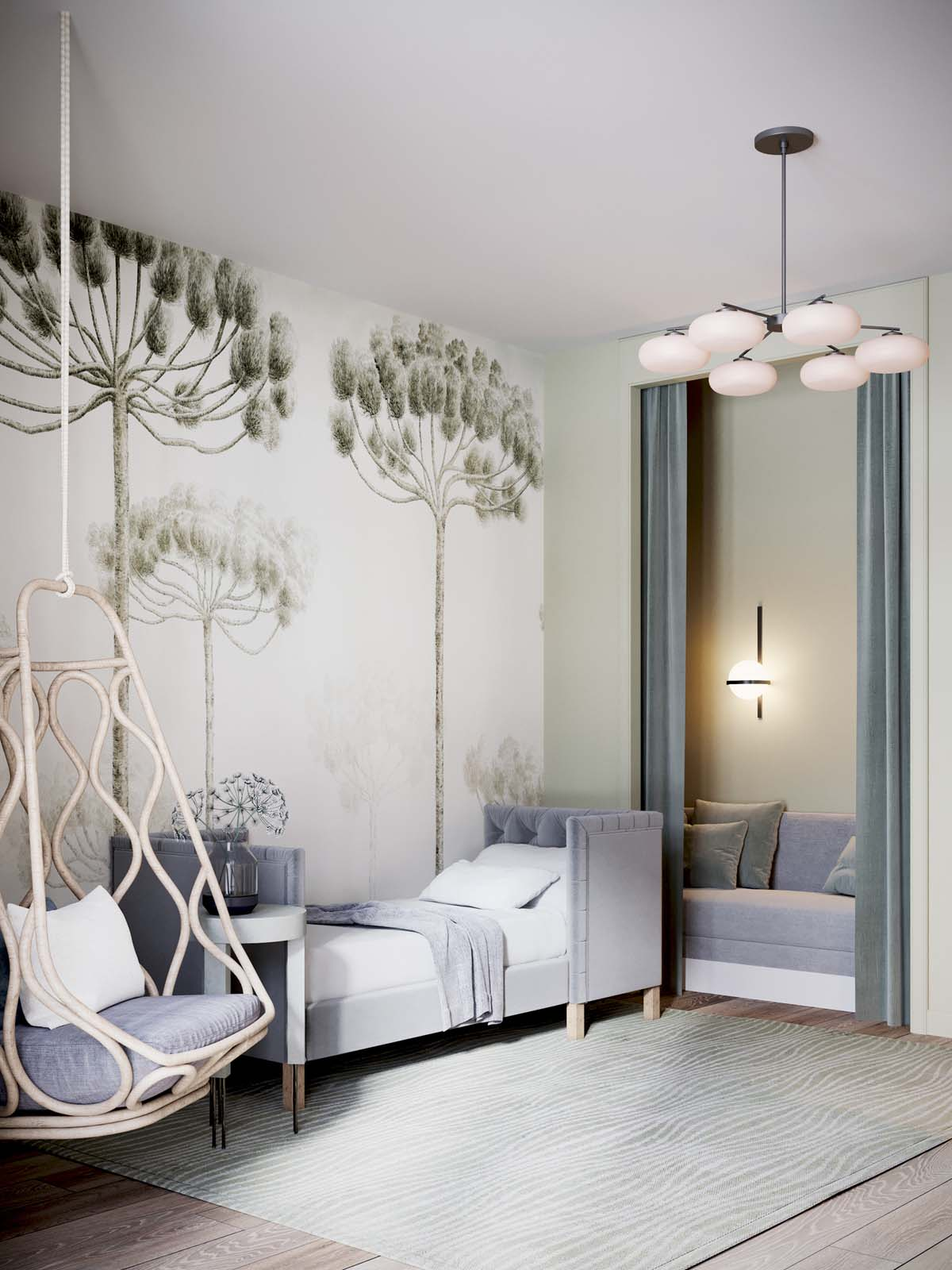 A Luxurious Home Interior with Pretty, Muted Pastel Colors images 25
