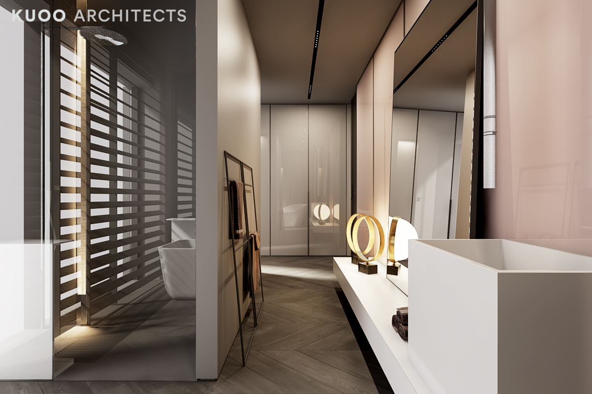 A Luxury Apartment With Comfortable Furniture And A Double Height Ceiling Interior Design