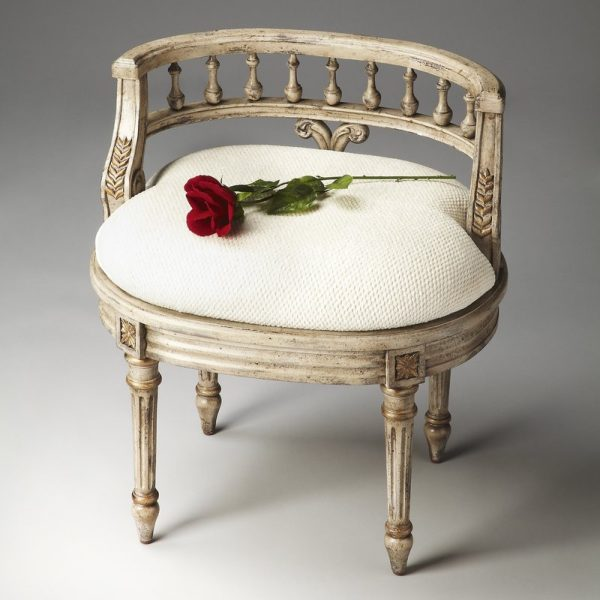 BUY IT · Antique Vanity Stool ... - 50 Beautiful Vanity Chairs & Stools To Add Elegance To Your Dressing