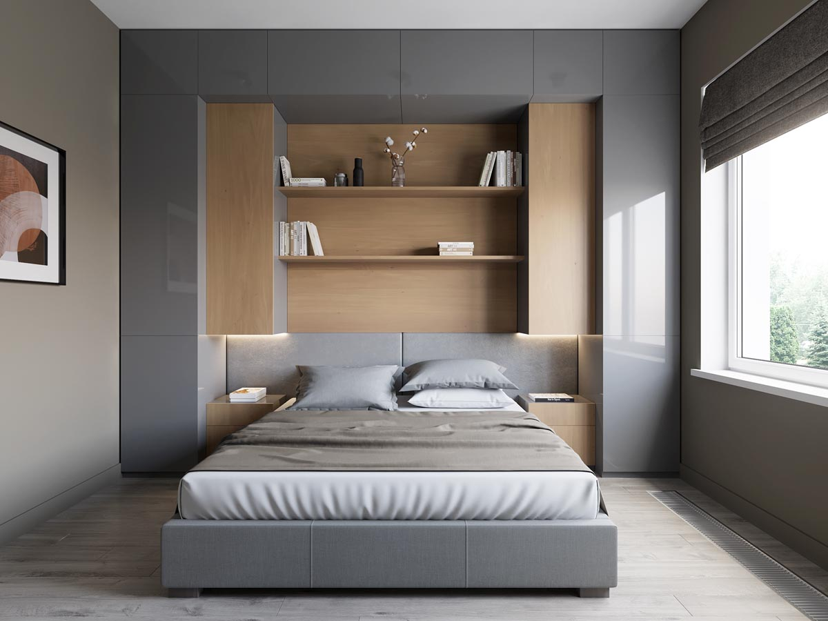 5 contrasting small apartment designs Dormitorios minimalistas pequenos