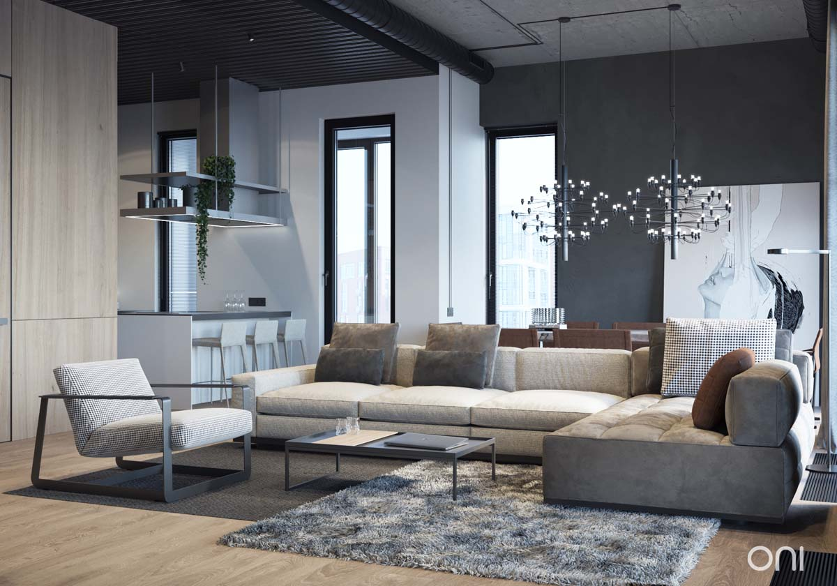 Integrating Comfort With Industrial Style A Home
