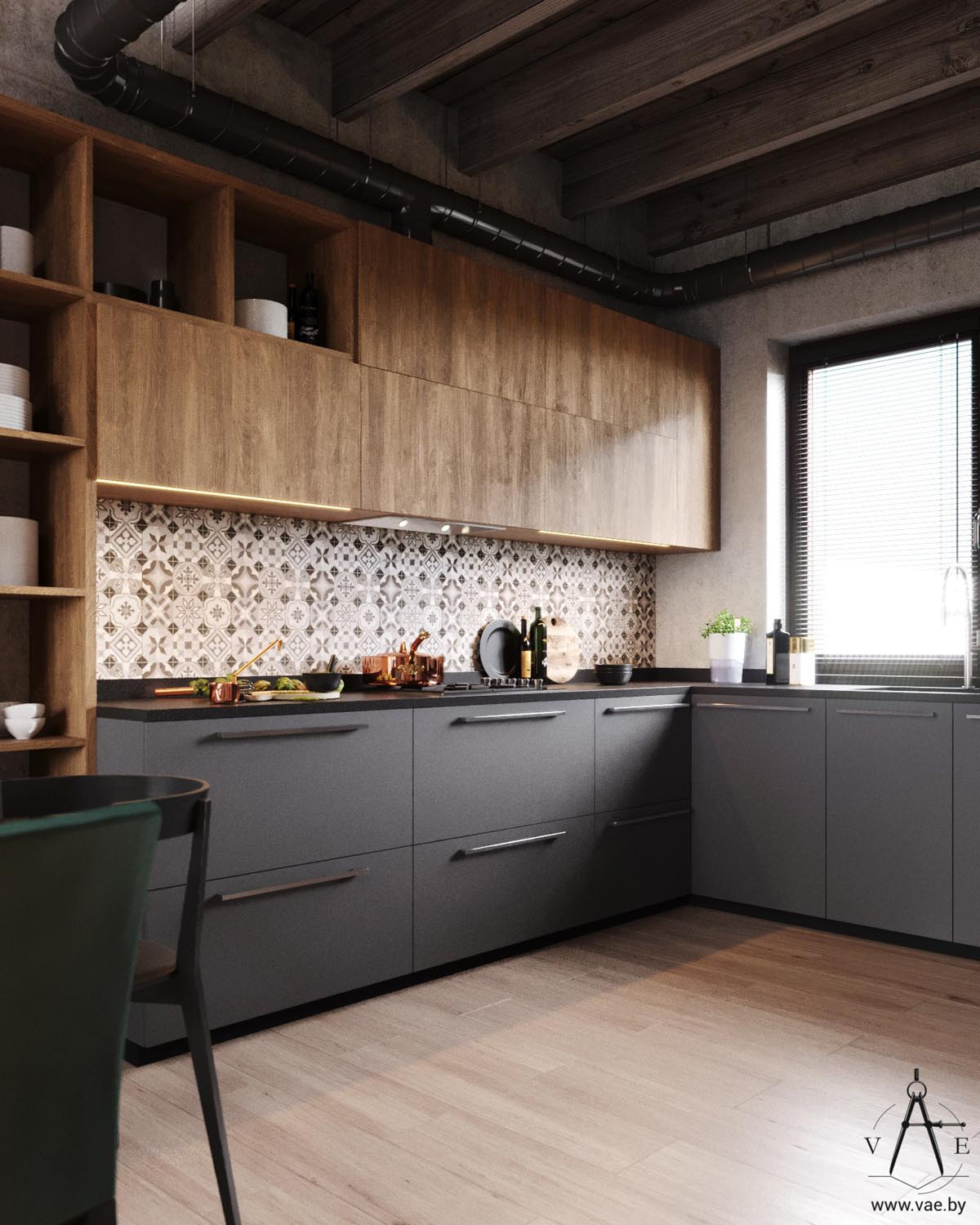 25 Best Ideas About Industrial Chic Kitchen On Pinterest: Warm Industrial Style House (With Layout