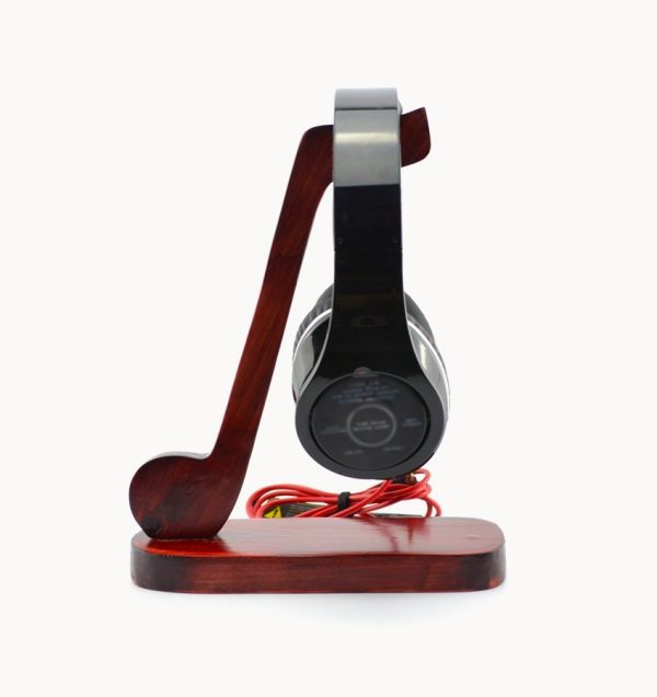 30 cool headphone stands earphone holders to make a feature of your beats interior - Wooden headphone holder ...