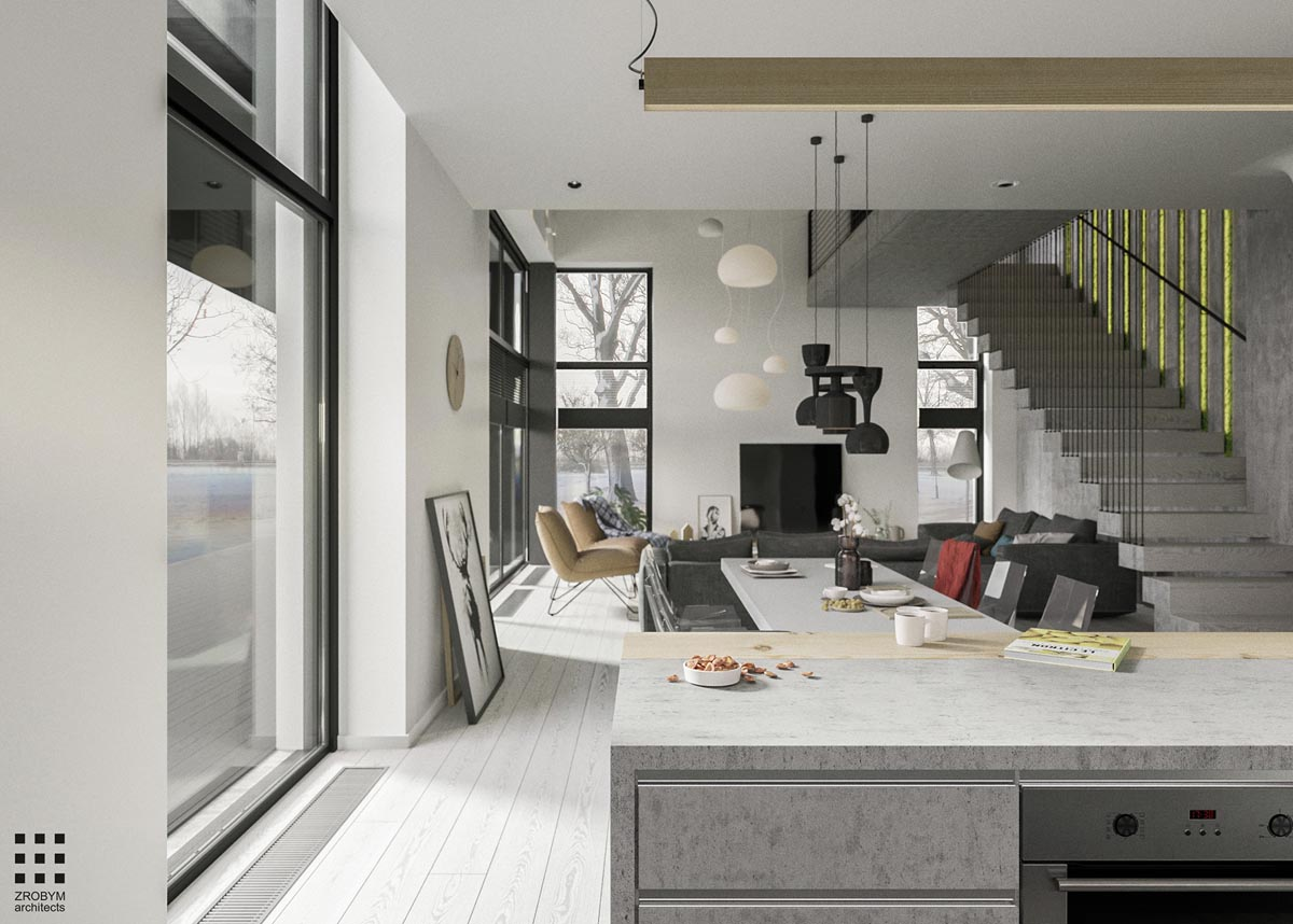 A Two-Story Home with a Sleek Grey Color Palette images 11