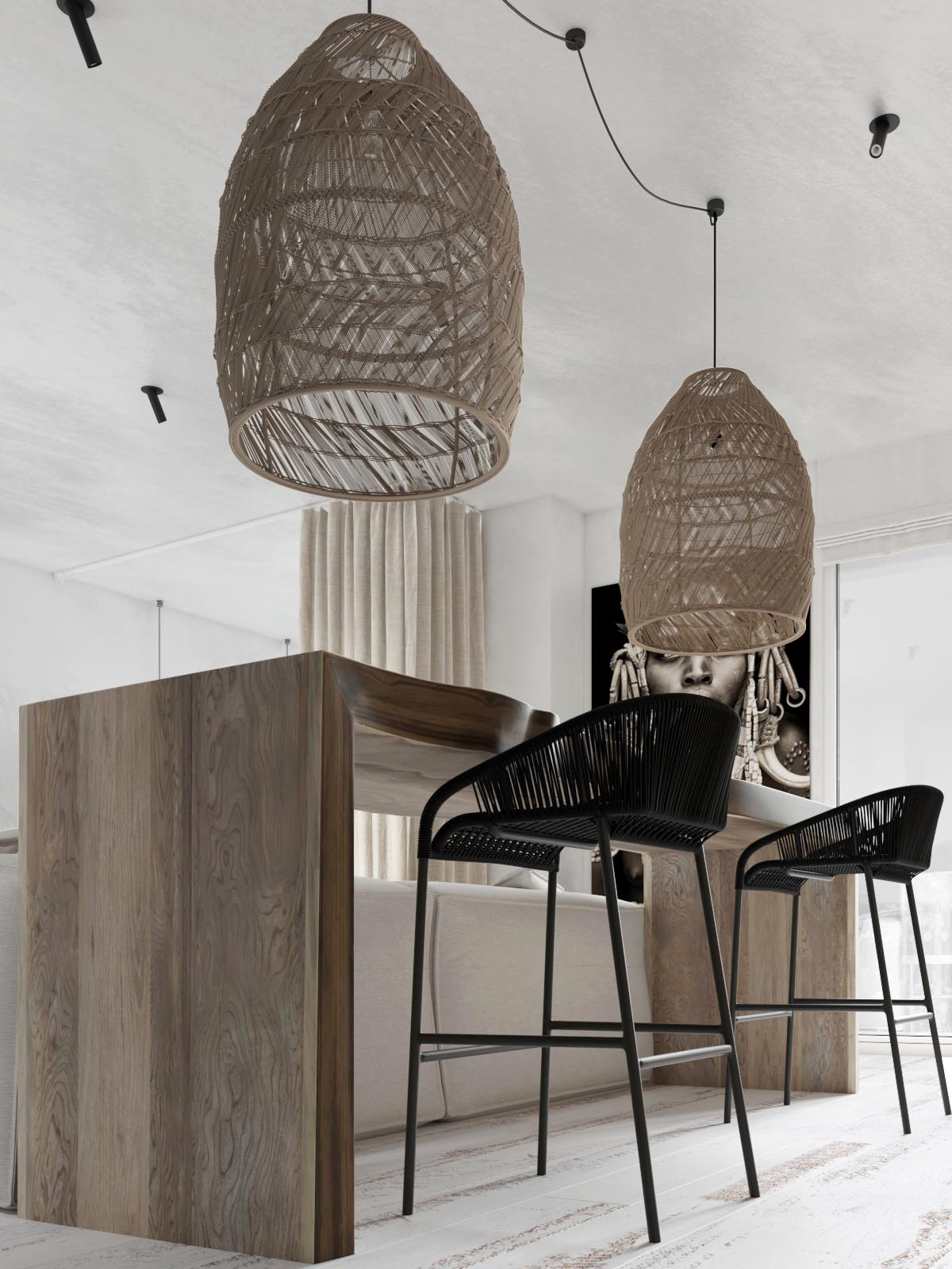 Modern Monochrome Tribal Decor images 3