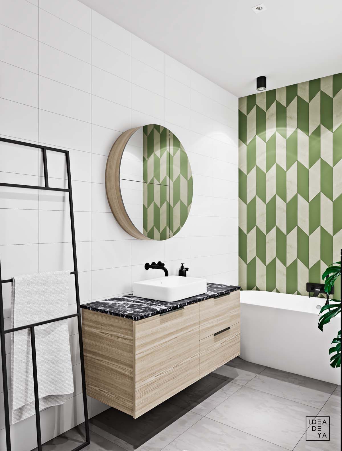 Unusual Home Layout with Creative Accent Colours images 16