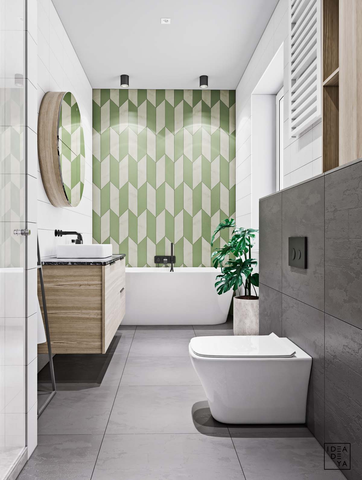 Unusual Home Layout with Creative Accent Colours images 15