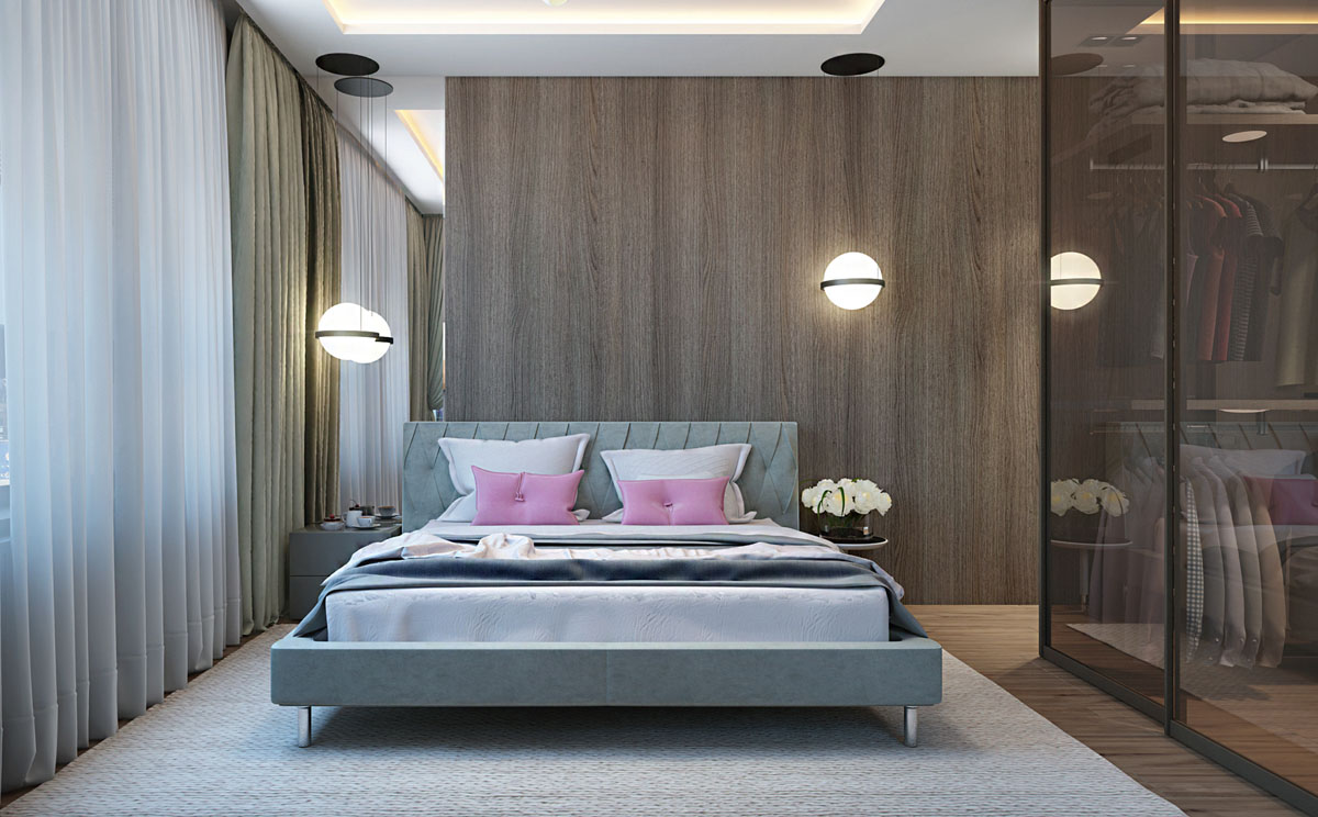 2 Single Bedroom Homes With Warming Wood Tones images 6