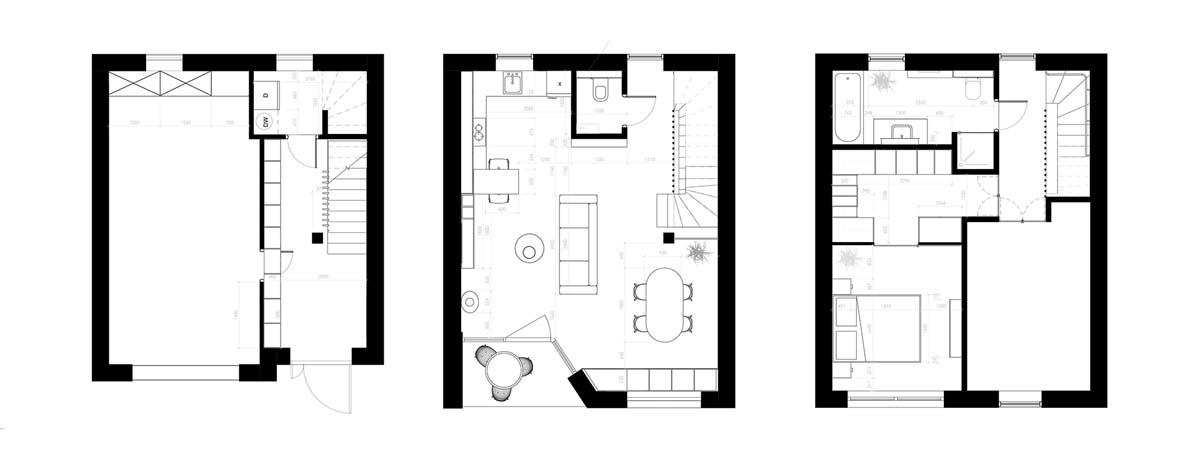 Unusual Home Layout with Creative Accent Colours images 20