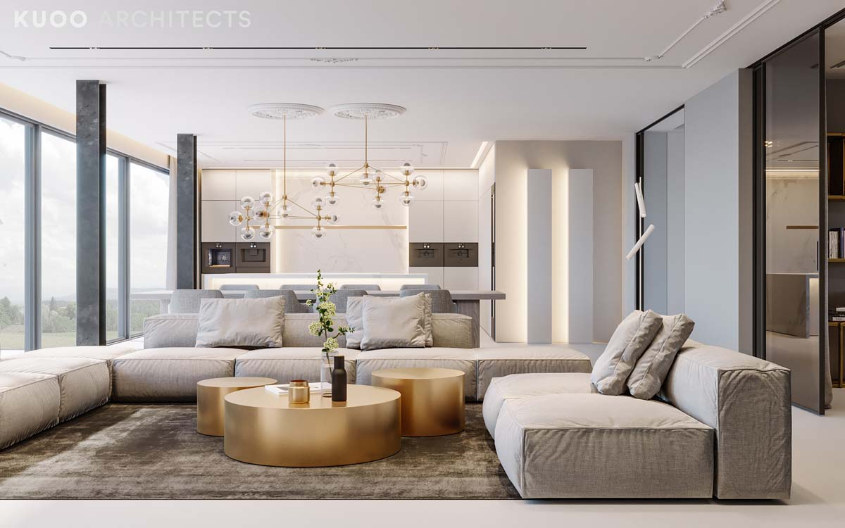 Ritzy uk home with glam metallic accents Ritzy uk home with glam metallic accents