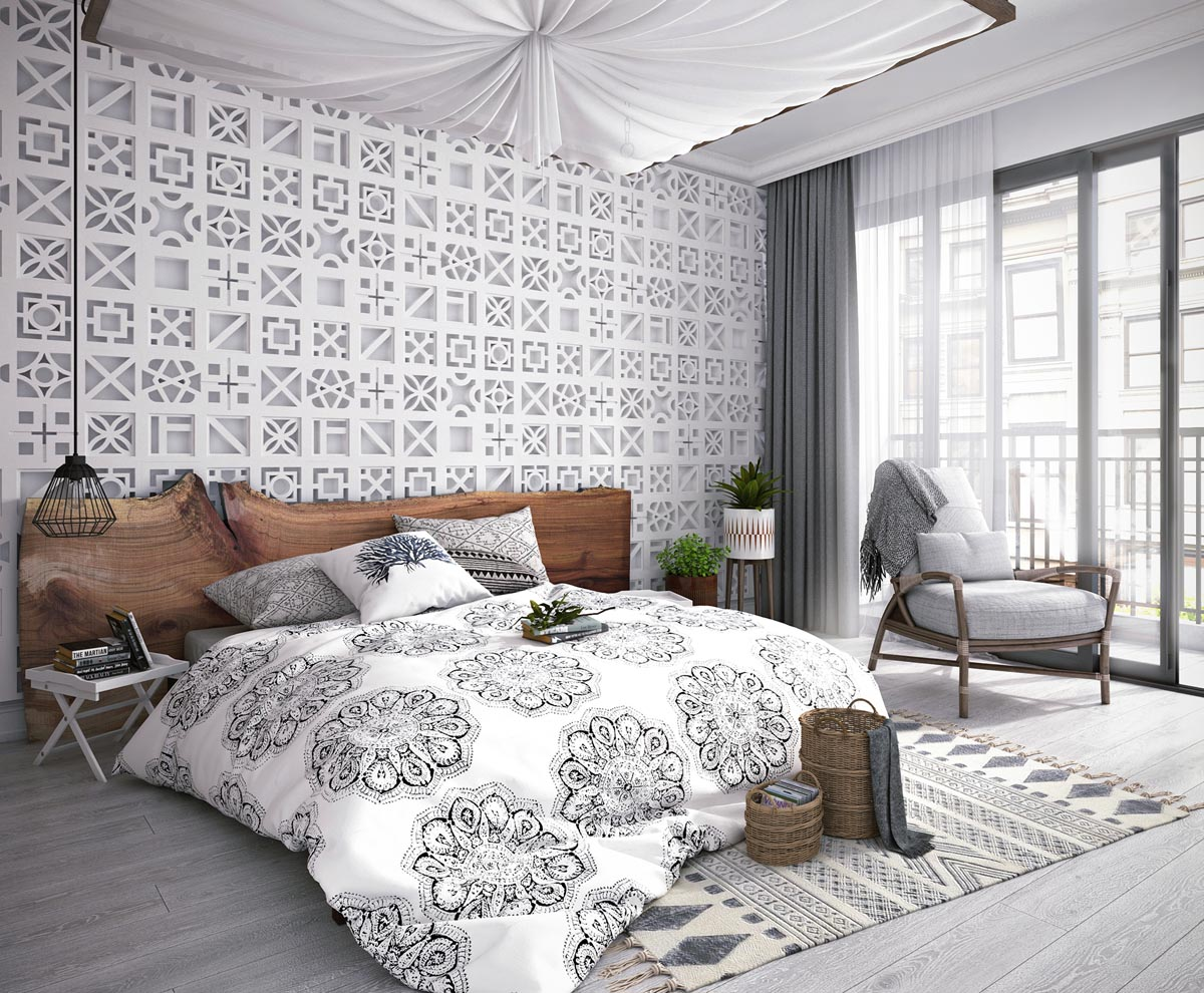 Modern Monochrome Tribal Decor images 23
