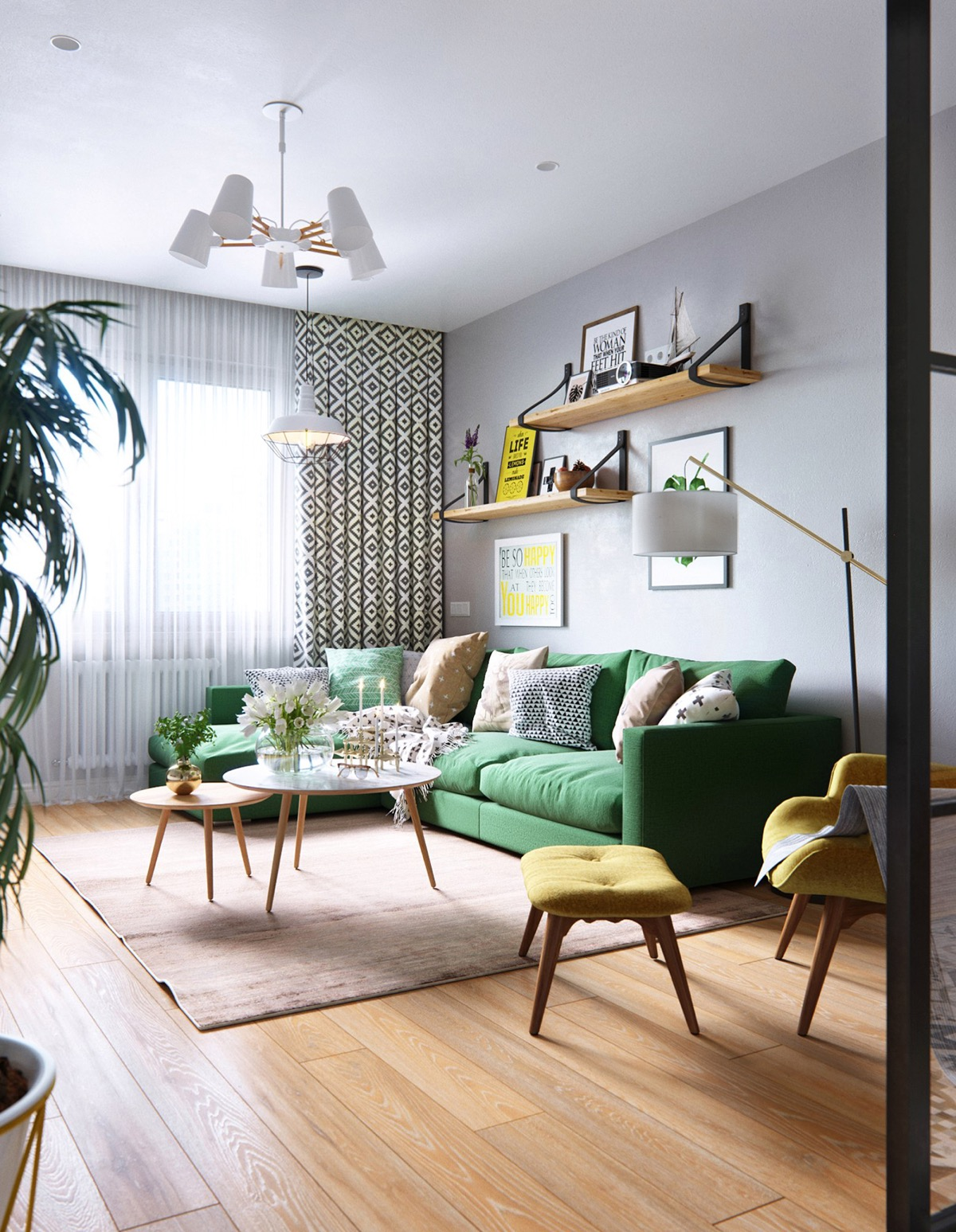 3 Soothing Scandinavian Interiors
