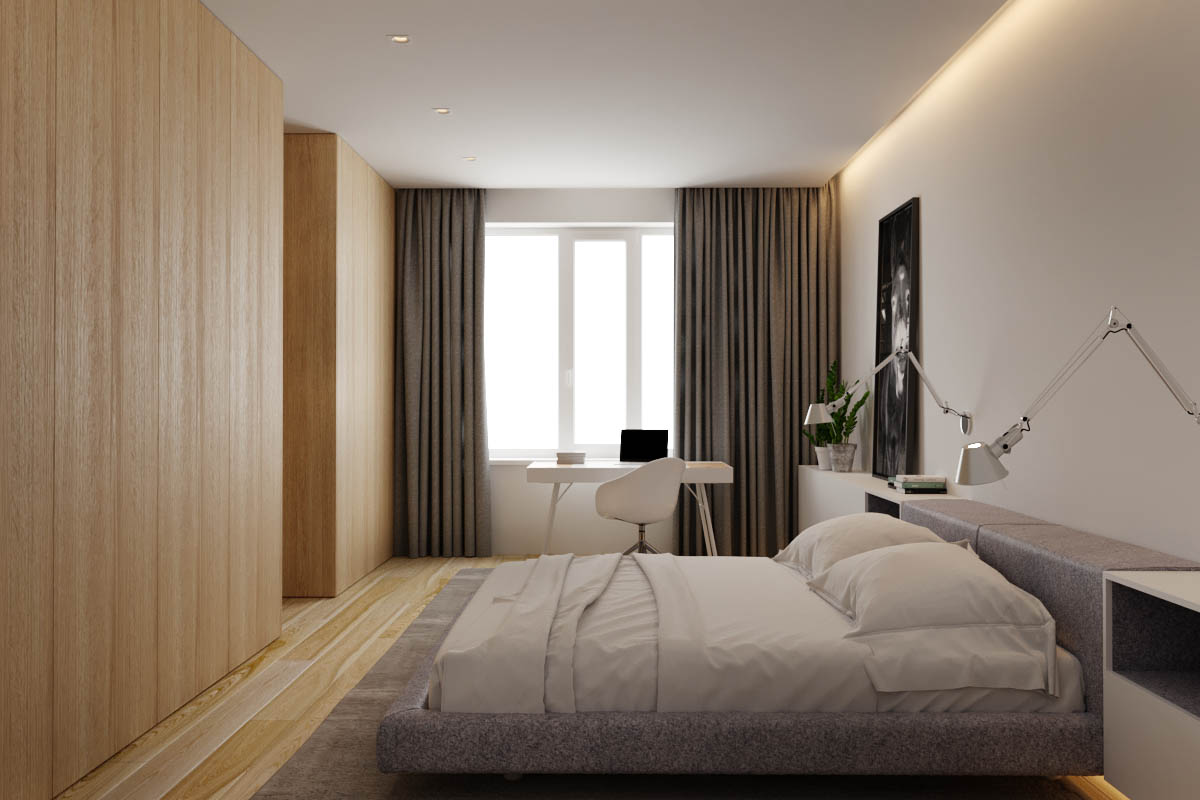 2 Single Bedroom Homes With Warming Wood Tones images 22