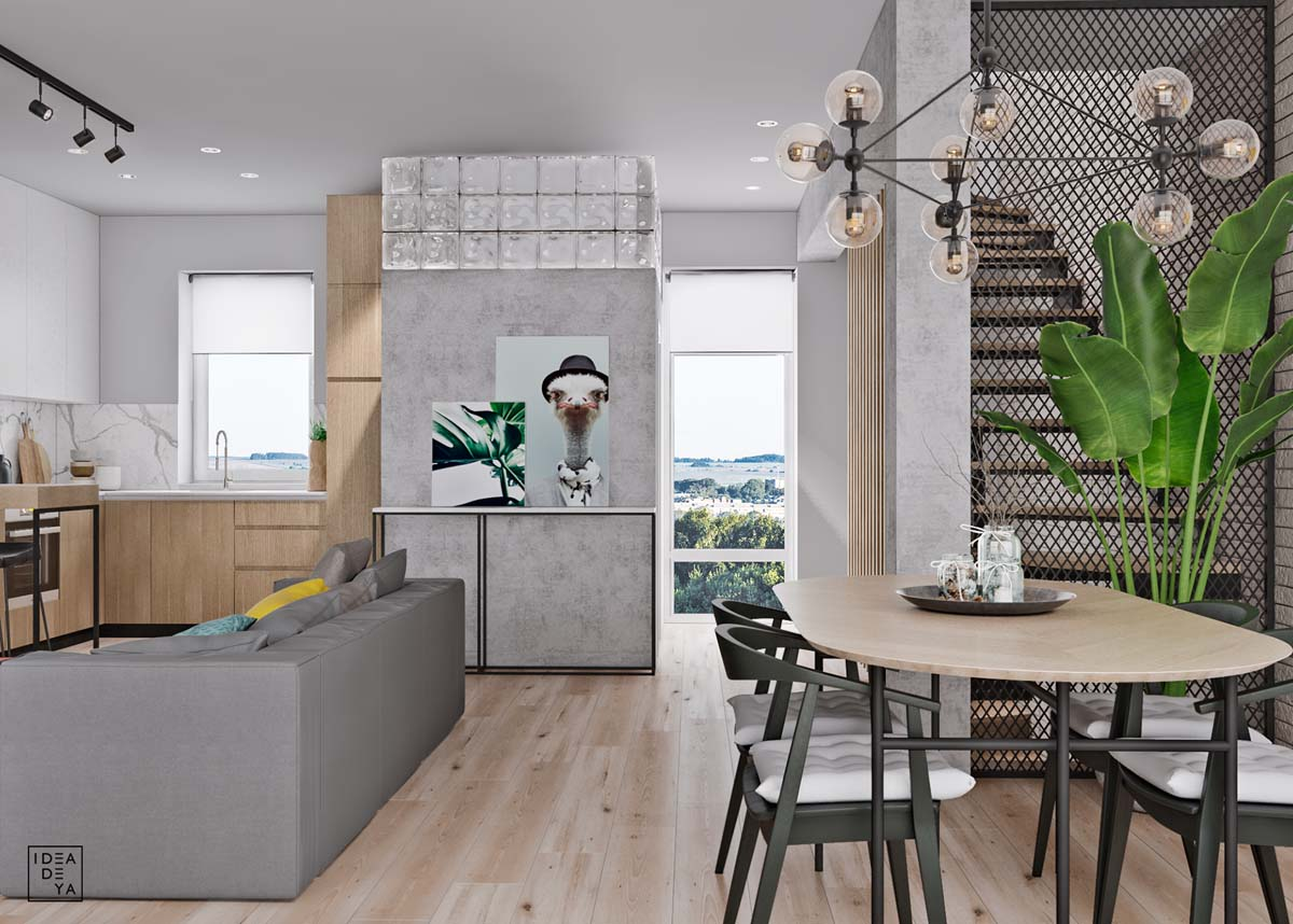 Unusual Home Layout with Creative Accent Colours images 4