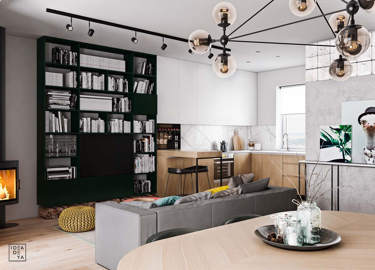 Unusual Home Layout with Creative Accent Colours images 2
