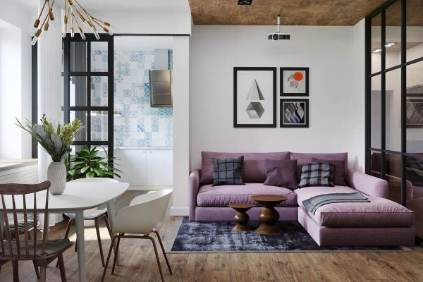 A modest sized apartment that makes the best use of available space