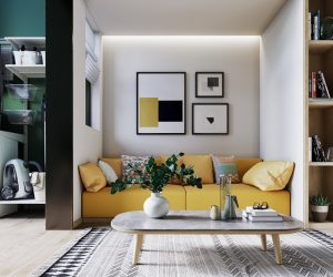 a selection of yellow home