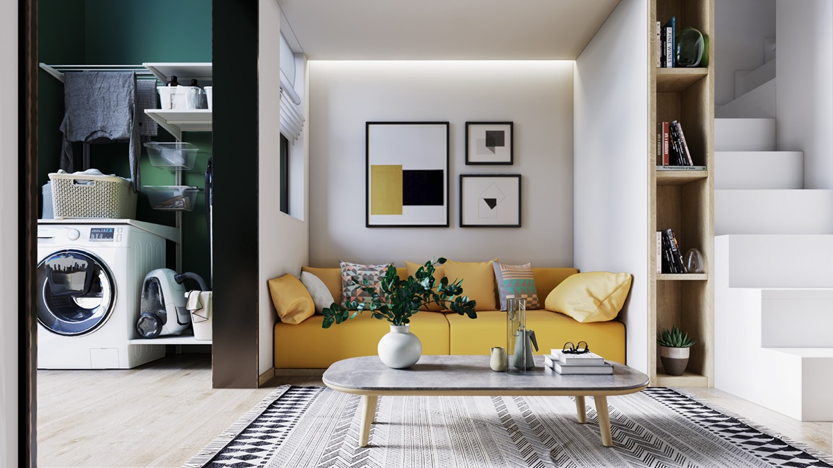 Yellow Accents In Scandinavian Style Interiors 3 Examples That Show