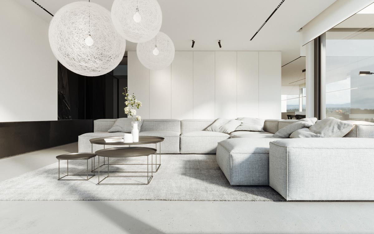 40 gorgeously minimalist living rooms that find substance for Minimalist living room design