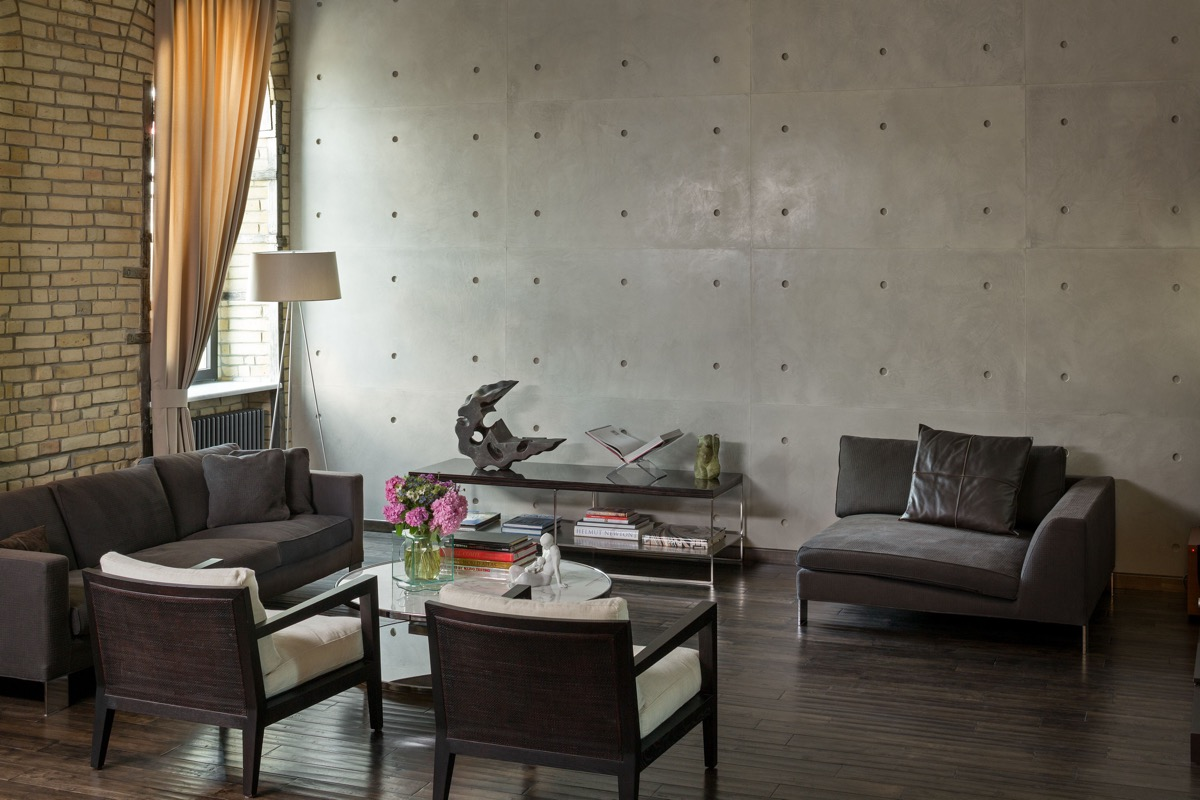 40 Stylish Living Rooms That Use Concrete To Stand Out images 11