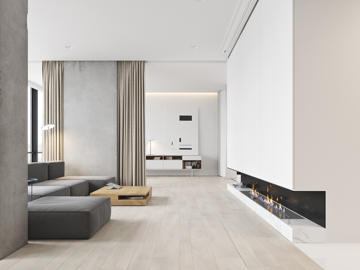 40 gorgeously minimalist living rooms that find substance for Minimalist living bedroom