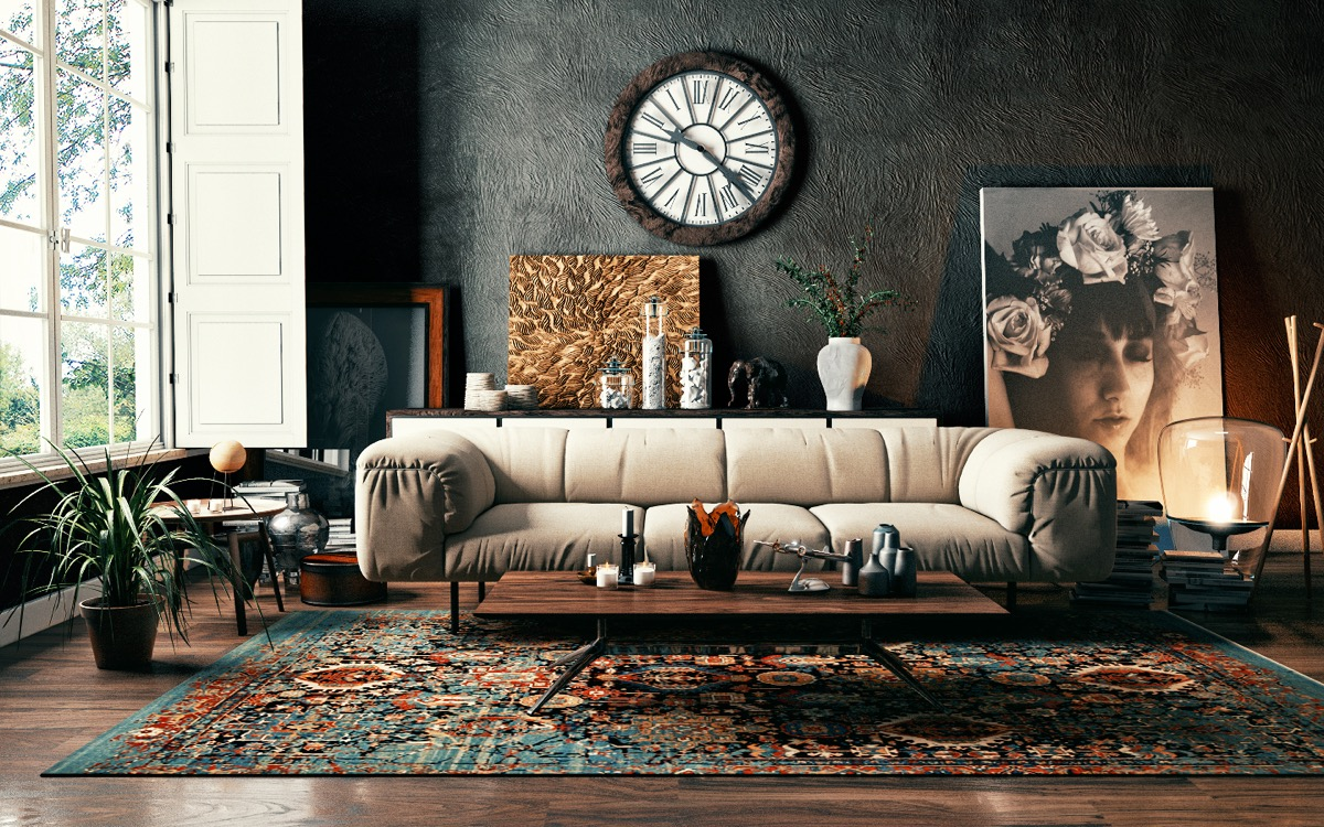 40 Stylish Living Rooms That Use Concrete To Stand Out images 9