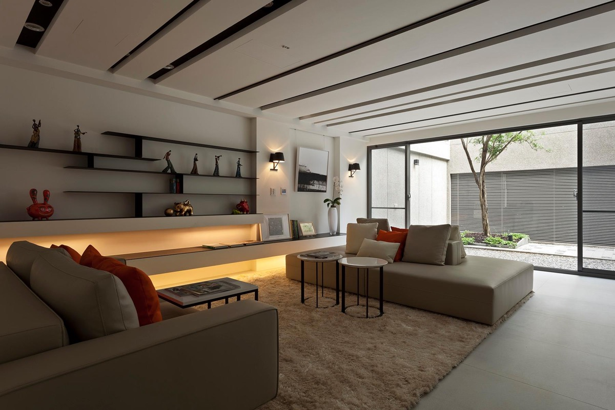40 gorgeously minimalist living rooms that find substance for Modern living room red