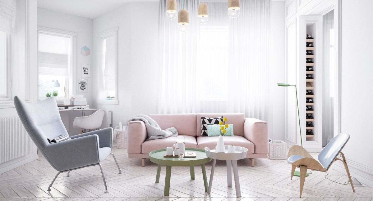 40 gorgeously minimalist living rooms that find substance in simplicity Apartments using pastel to create dreamy interiors