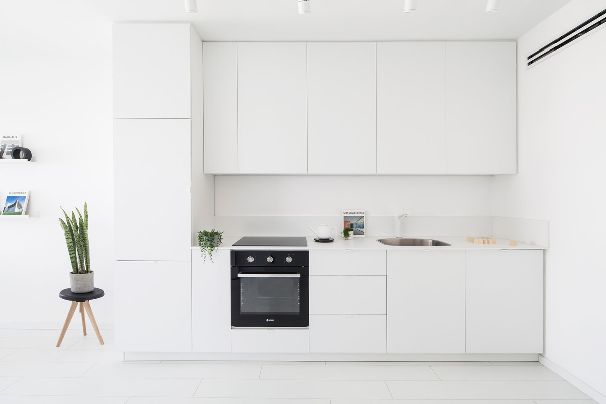 40 minimalist kitchens to get super sleek inspiration for Simple white kitchen designs