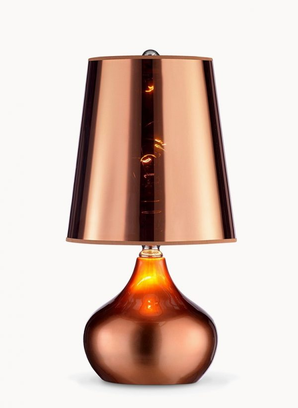 Stunning BUY IT Copper Table Lamp With Translucent