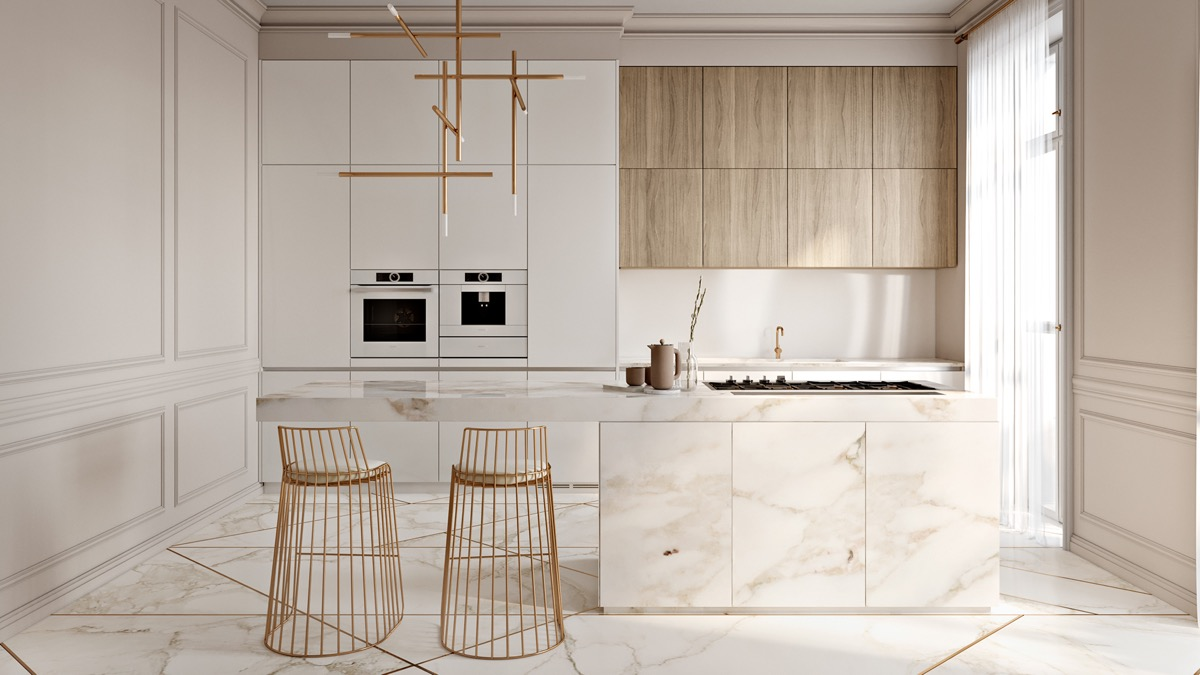 40 Minimalist Kitchens to Get Super Sleek Inspiration images 11