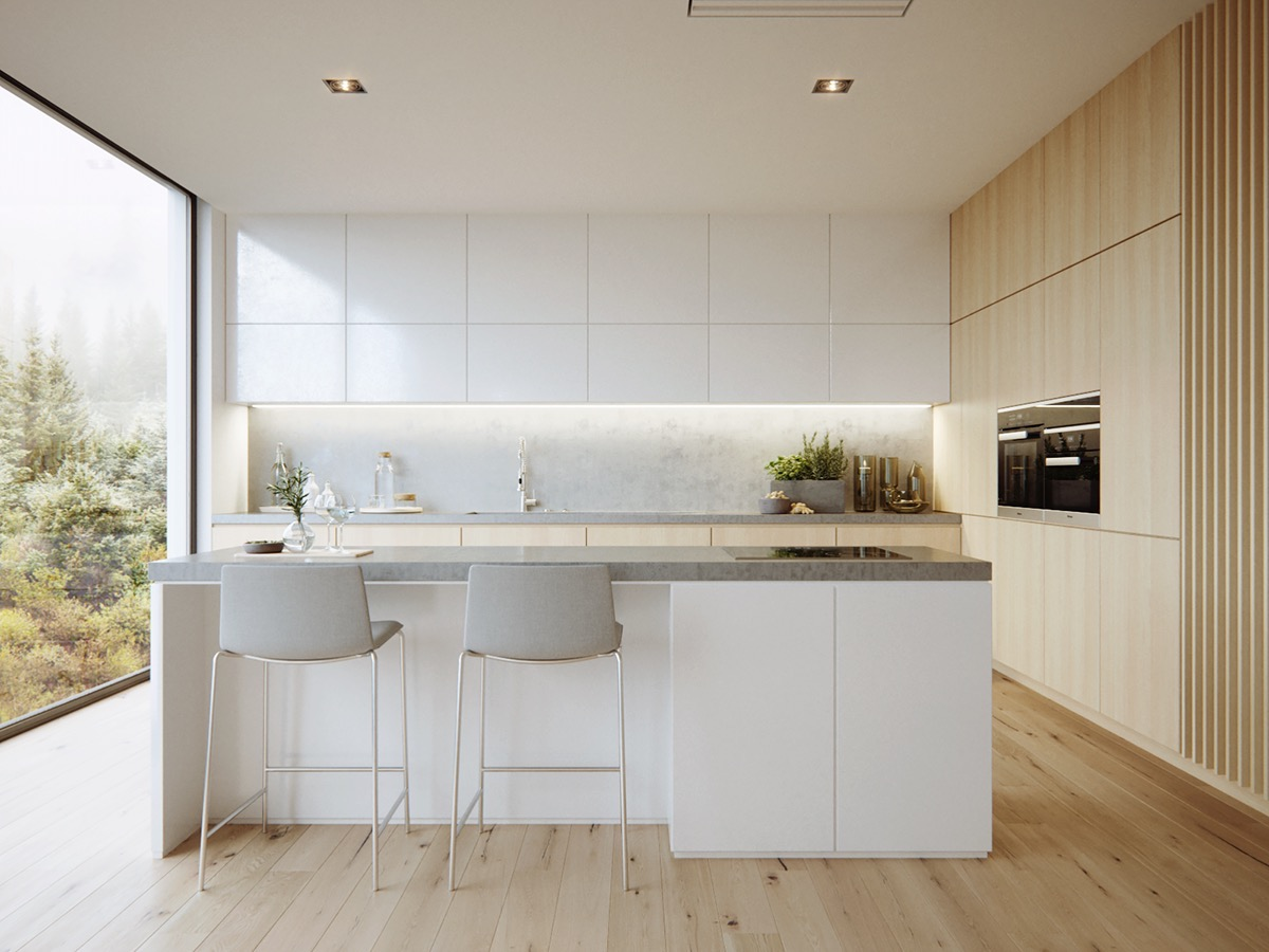 40 Minimalist Kitchens to Get Super Sleek Inspiration images 9