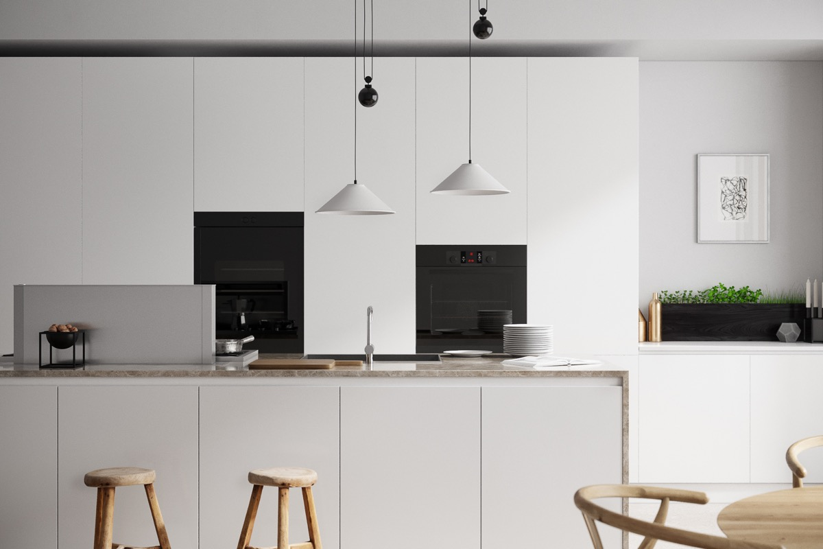 40 Minimalist Kitchens to Get Super Sleek Inspiration images 2