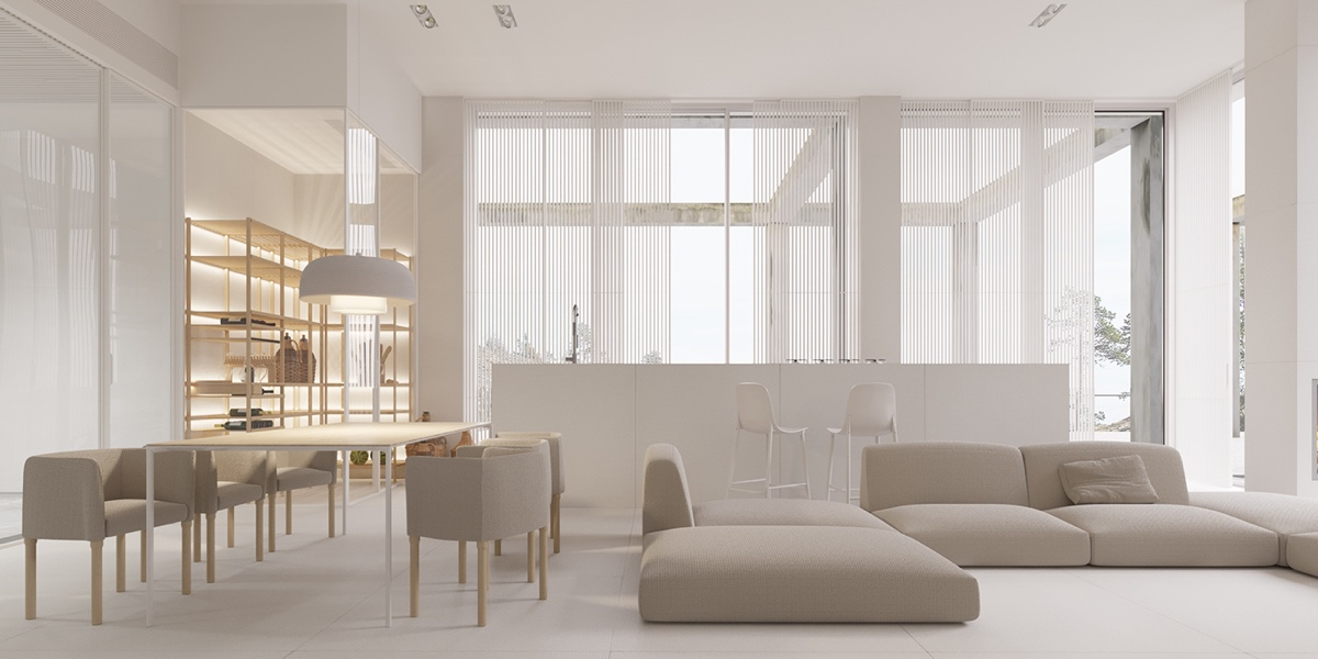 40 gorgeously minimalist living rooms that find substance for White minimalist living room