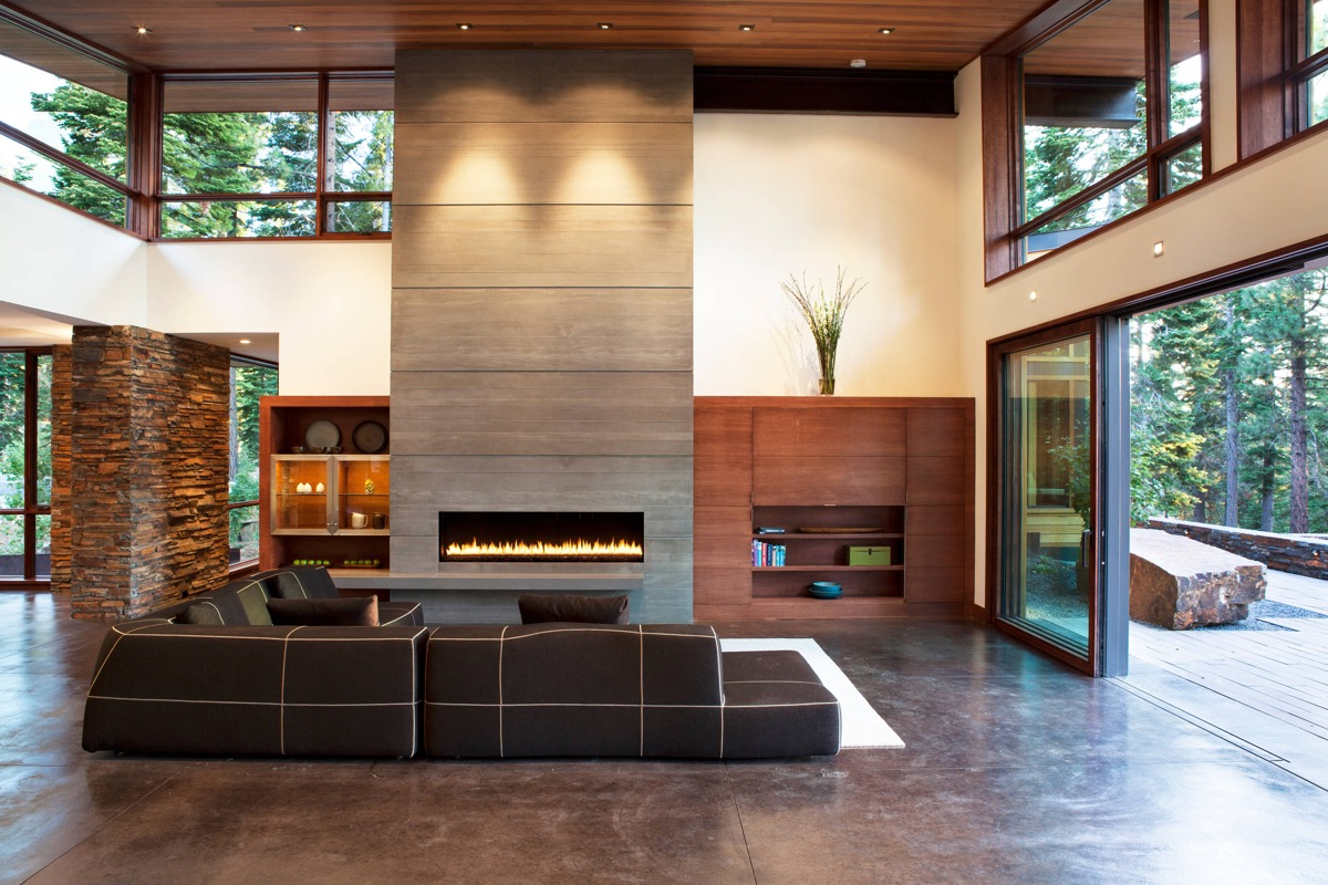 40 Stylish Living Rooms That Use Concrete To Stand Out images 14