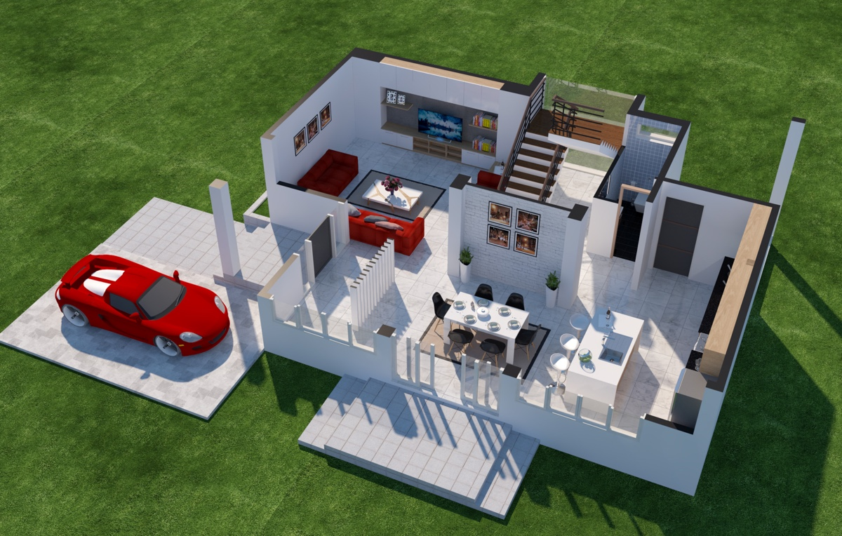 Cool service alert a 3d floor plan design service from for 3d house floor plans