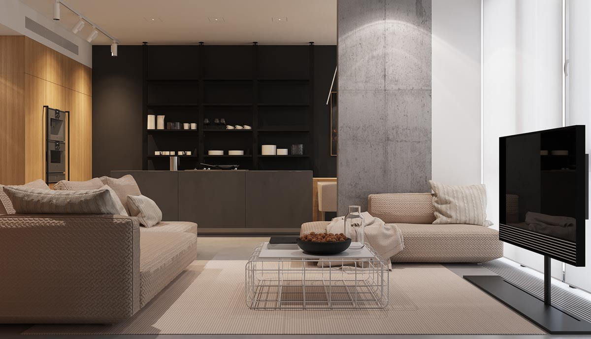 Using Dark Color Schemes For Small Homes: 3 Examples With Floor Plans images 23