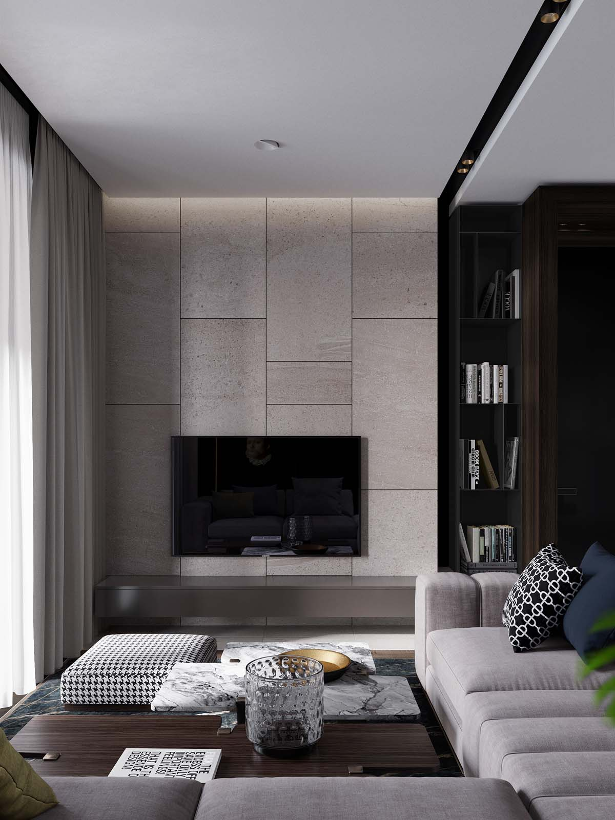 Using Dark Color Schemes For Small Homes: 3 Examples With Floor Plans images 3