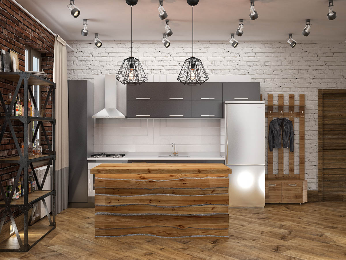 Rich Industrial Style Unites Jewel Colours with Exposed Brick Walls images 38