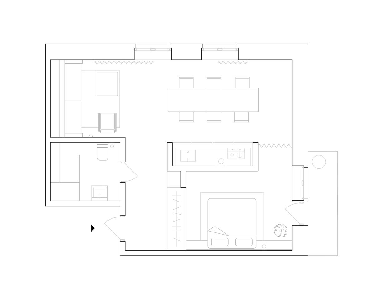 Using Dark Color Schemes For Small Homes: 3 Examples With Floor Plans images 22